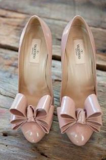 Valentino Nude Pumps with Bow