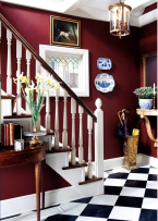 Decorating with Marsala Foyer