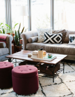Marsala Color of the year living room
