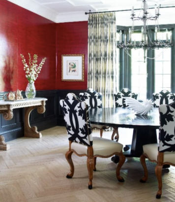 Color of the year ddining room in marsala color of the yearesign tips marsala pantone interior dining room