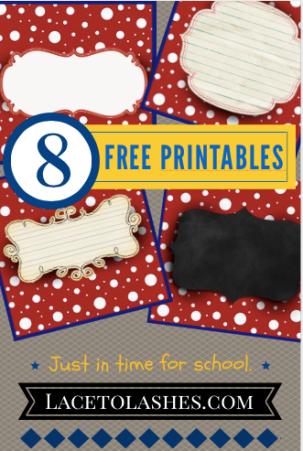 8 Free Printables