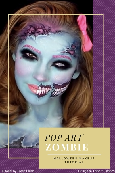 Best Halloween Makeup Pop Art Zombie