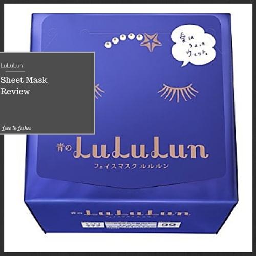 Sheet Mask Review Lululun