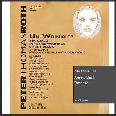 Sheet Mask Review Peter Thomas Roth