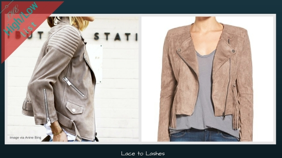 The High/low List Suede Moto Jacket