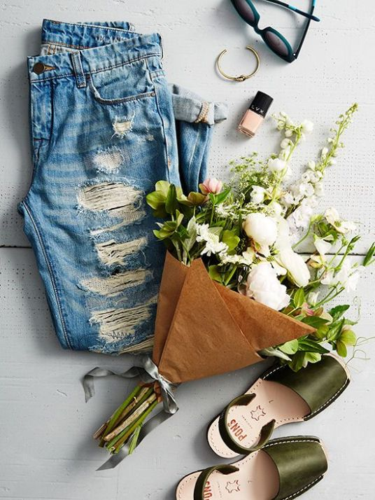 flat lay fashion background